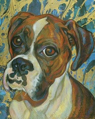 Boxer Art Print by Jane Oriel