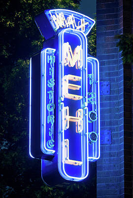 Photograph - Max Mehl Neon Sign Fort Worth 071118 by Rospotte Photography