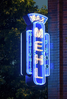 Photograph - Max Mrhl Neon Fort Worth 071218 by Rospotte Photography