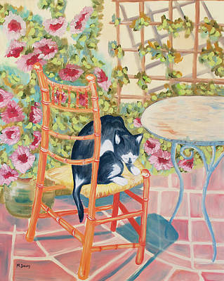 Max On The Patio Art Print