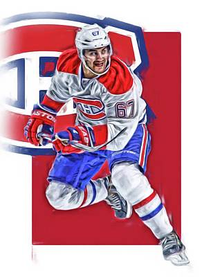Stanley Cup Mixed Media - Max Pacioretty Montreal Canadiens Oil Art by Joe Hamilton
