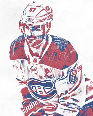 Mixed Media - Max Pacioretty Montreal Canadiens Pixel Art 2 by Joe Hamilton
