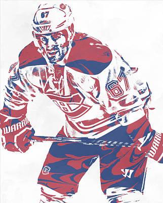 Mixed Media - Max Pacioretty Montreal Canadiens Pixel Art 3 by Joe Hamilton