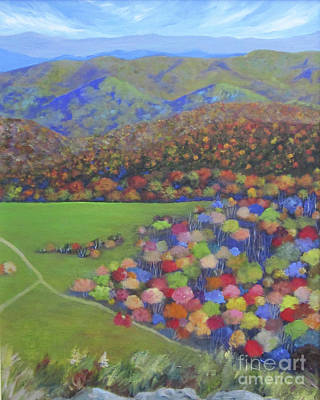 Painting - Max Patch by Anne Marie Brown