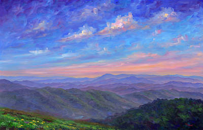 Blue Ridge Painting - Max Patch North Carolina by Jeff Pittman
