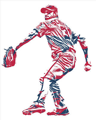Mixed Media - Max Scherzer Washington Nationals Pixel Art 10 by Joe Hamilton