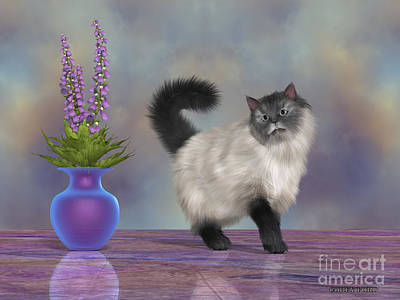 House Pet Painting - Max The House Cat by Corey Ford