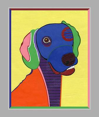 Painting - Max The Weimaraner by Ruby Persson