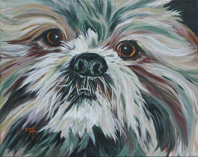 Painting - Max Up Close And Personal by Donna Drake