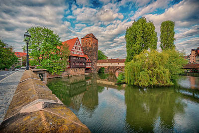 Photograph - Maxbrucke Bridge And Henkerturm Tower Nuremberg Germany 7r2_dsc7930_05102017 by Greg Kluempers