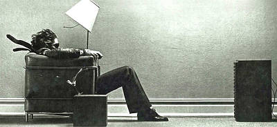 Derek Jeter Digital Art - Maxell Ad Blown Away Guy by Thomas Pollart