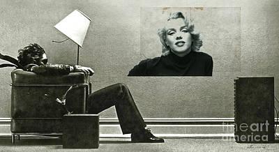 St. Louis Art Mixed Media - Maxell Ad Blown Away, Marilyn Monroe by Thomas Pollart