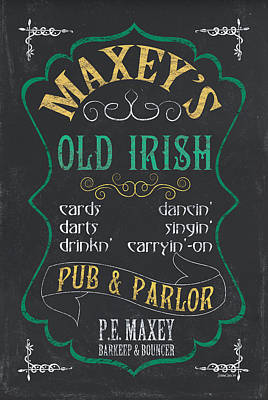 Cocktails Mixed Media - Maxey's Old Irish Pub by Debbie DeWitt