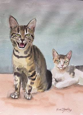 Painting - Maxi And Girlfriend by Mimi Boothby
