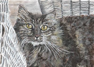 Portraits Of Pets Mixed Media - Maxie by Sarina Damen