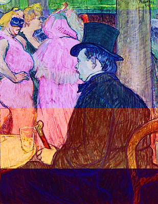 Prostitution Painting - Maxime Dethomas On The Opera Ball by Toulouse Lautrec