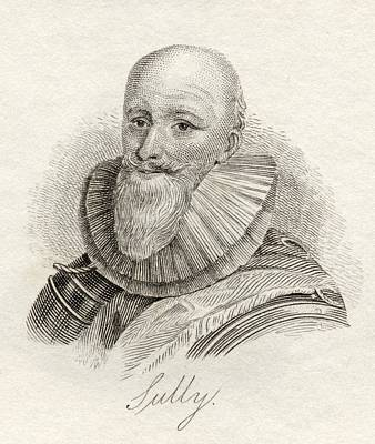 Sully Drawing - Maximilien B Thune Duc De Sully by Vintage Design Pics