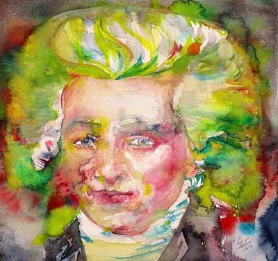 Painting - Maximilien Robespierre - Watercolor Portrait by Fabrizio Cassetta