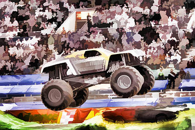 Stadium Crowd Painting - Maximum Destruction by Lanjee Chee