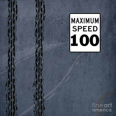 Asphalt Digital Art - Maximum Speed 100 by Pablo Franchi