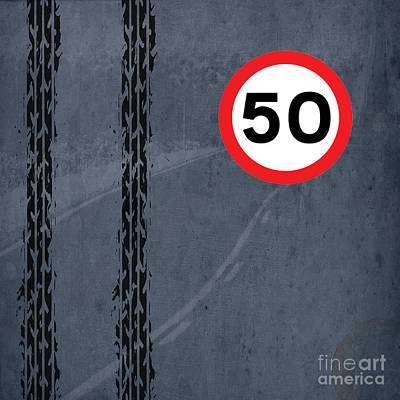 Asphalt Digital Art - Maximum Speed 50 by Pablo Franchi