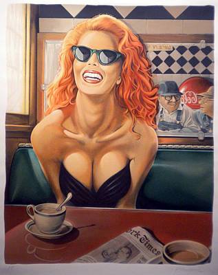 Redheads Wall Art - Pastel - Maxine by Patrick Anthony Pierson
