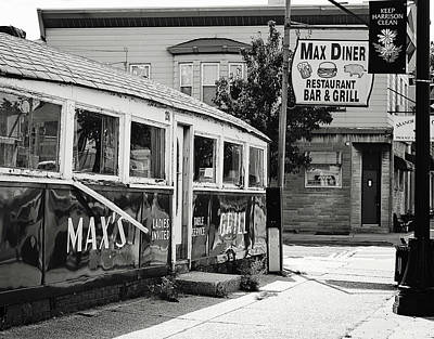 Photograph - Max's Diner New Jersey Black And White by Terry DeLuco