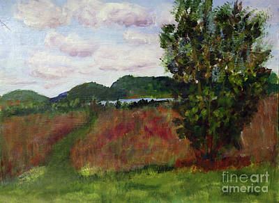 Painting - Maxwell Farm Grass Waterway by Donna Walsh