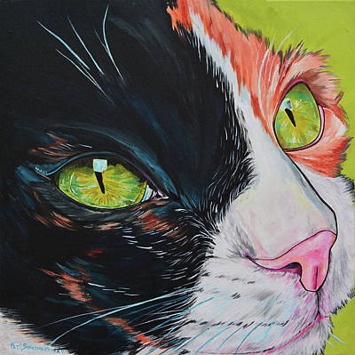 Painting - Maxx The Cat by Patti Schermerhorn
