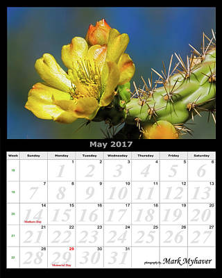 Photograph - May 2017 Calendar by Mark Myhaver