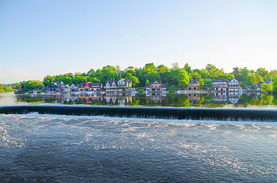 Schuylkill Digital Art - May Along The Schuylkill River - Boathouse Row by Bill Cannon