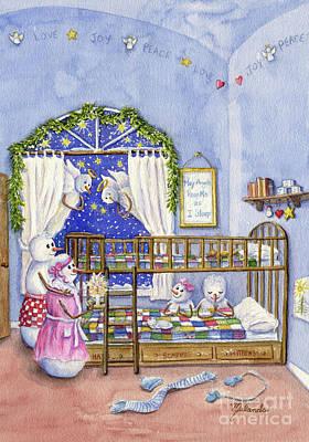 Bed Quilts Painting - May Angels Keep Me by Malanda Warner