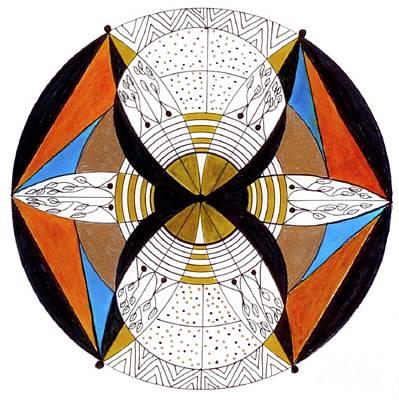 Meditative Drawing - May-bee by Nancy TeWinkel Lauren