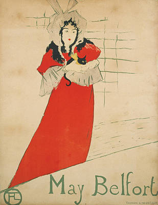 Drawing - May Belfort  by Henri de Toulouse-Lautrec