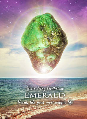 Digital Art - May Birthstone Emerald by Evie Cook