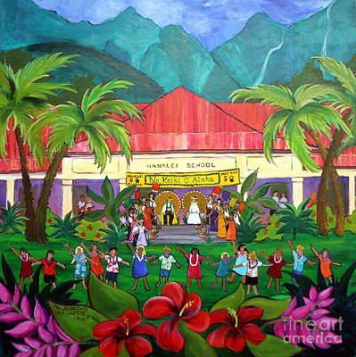 Hanalei Painting - May Day At Hanalei by Jerri Grindle
