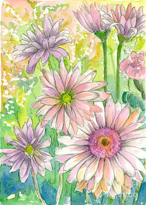 Painting - May Day Daisy Bouquet by Cathie Richardson