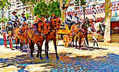 Digital Art - May Day Fair In Sevilla, Spain by Tatiana Travelways