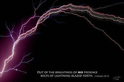 Photograph - May Lightning With Script by Ericamaxine Price