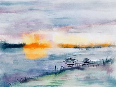 Digital Art - May River Sunset by Frank Bright