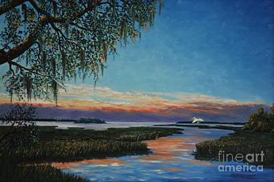 May River Sunset Art Print by Stanton Allaben