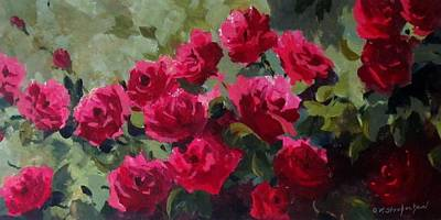 May Roses Art Print by Sandra Strohschein