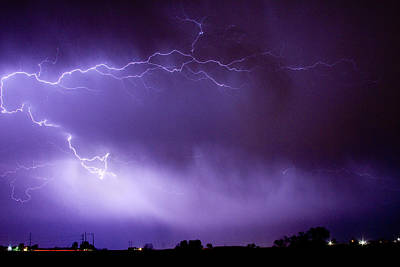 May Showers 2 In Color - Lightning Thunderstorm 5-10-11 Boulder Art Print by James BO  Insogna