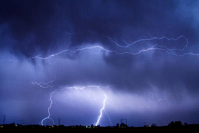 May Showers - Lightning Thunderstorm 5-10-2011 Art Print by James BO  Insogna