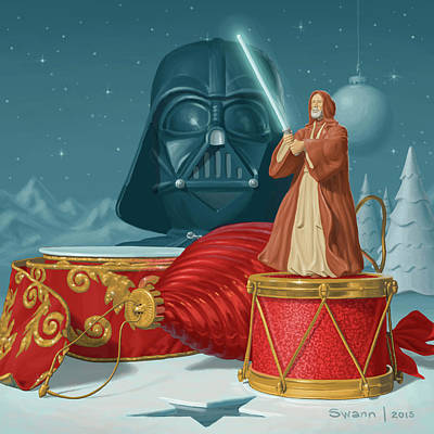 Painting - May The Holidays Be With You by Swann Smith