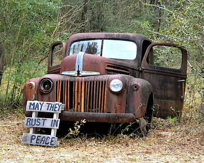 Photograph - May They Rust In Peace by Carla Parris