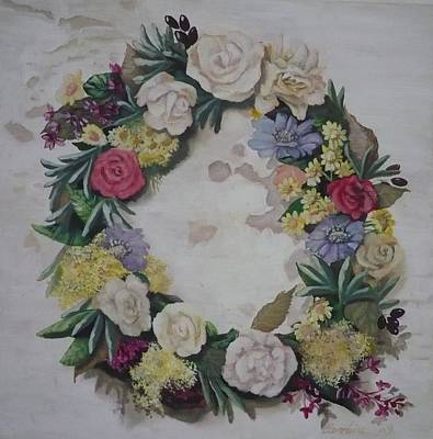 Painting - May Wreath by Caroline Philp