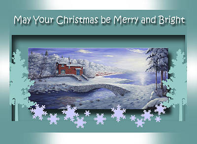 Painting - May Your Christmas Be Merry And Bright by Saeed Hojjati