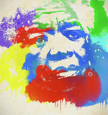 Painting - Maya Angelou by Dan Sproul
