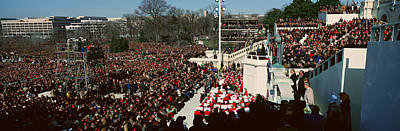 Inauguration Photograph - Maya Angelou Delivers Poem On Bill by Panoramic Images